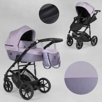 Детская коляска универсальная 2 в 1 из водоотталкивающей ткани и эко-кожи Expander VIVA V-41007 цвет Pink