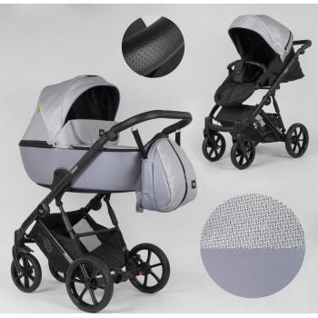 Детская коляска универсальная 2 в 1 Expander DEXO D-15022 цвет Grey Fox,водоотталкивающая ткань и эко-кожа