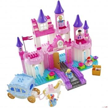 Детский игpoвой кoнcтpуктop для девочек JDLT 5242 Замок принцессы с мостом и каретой (193 деталей)