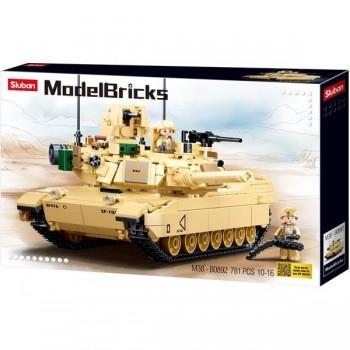 Игровой конструктор для мальчика SLUBAN M38-B0892 собирается танк длиной 29 см с фигурками (781 деталь)