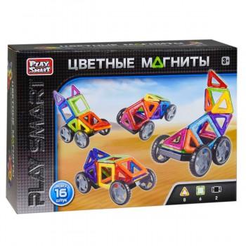 Детский игрушечный магнитный конструктор Play Smart