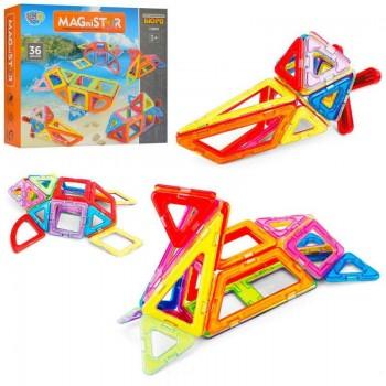 Детский игровой, яркий, магнитный конструктор для малышей от 3-х лет, без острых углов LT5003, (36 деталей)