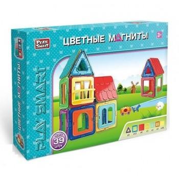 Детская игрушка магнитный конструктор Play Smart 2463 (39 деталей)