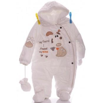 Зимний комбинезон для новорожденных Bone белый
