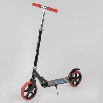 Алюминиевый складной самокат Best Scooter 30458 Черный, колеса PU 20 см