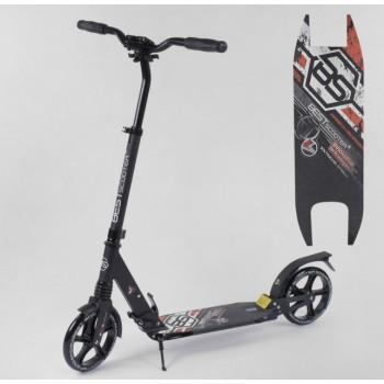 Алюминиевый детский самокат с подножкой 54394 Best Scooter колеса PU и 2 аммортизатора