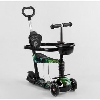 Беговел, самокат для прогулок с защитным бампером и сиденьем, колеса светятся Best Scooter