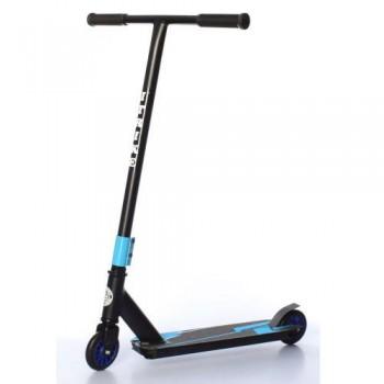 Детский трюковый Самокат iTrike SR 2-066-2-BBL колеса ПУ, d=10см, руль 83,5 см черный с синим