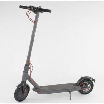 Электросамокат алюминиевый, складной, двухколёсный для взрослых и детей SD- 2205 Best Scooter (цвет серый)