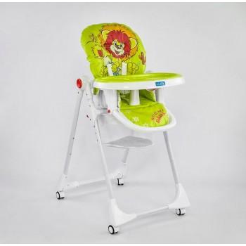 Классический стульчик для кормления на колесиках со съемным подносом JOY К-41208