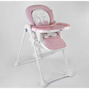Детский стульчик для кормления ребенка Toti W-92005 мягкий PU и 2 колеса