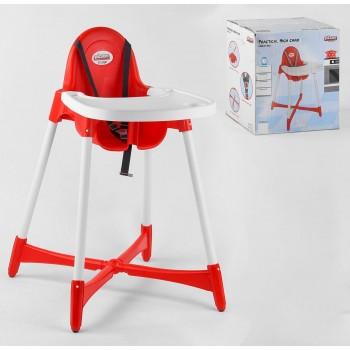 Стульчик для кормления ребенка от 4-х месяцев с литым сиденьем 07-504 Pilsan, цвет красный