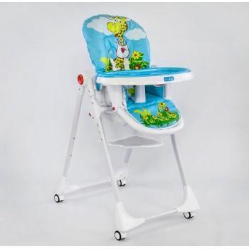 Складной стульчик для кормления с регулировкой по высоте и непромокаемой обивкой JOY К-61735