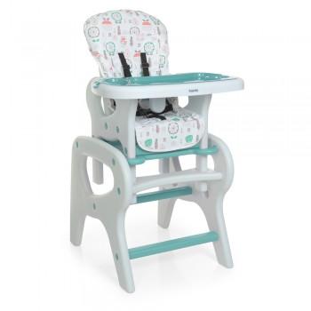 Стульчик-трансформер для кормления малышей со съемной столешницей и подносом BAMBI 0816 Flowers Mint (мятный)