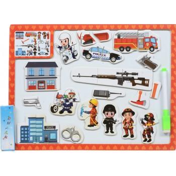 Деревянная игрушка Досточка MD 1015 2в1 магнитная, для рисования  (Красный)