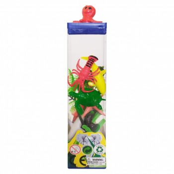 Набор пластиковых Животных  004-1-12 квадратный бокс (Осьминог)