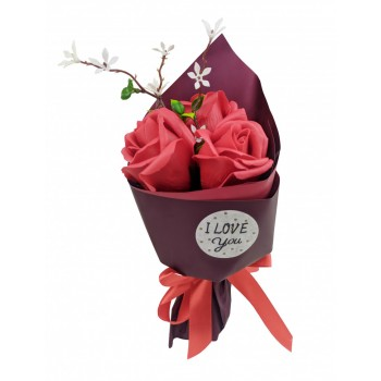 Аксессуары для праздника MK 3317 букет из 3х роз (MK 3317(Red))