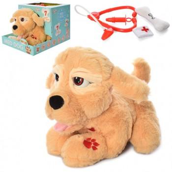 Плюшевая собака с набором ветеринара 099D со звуком