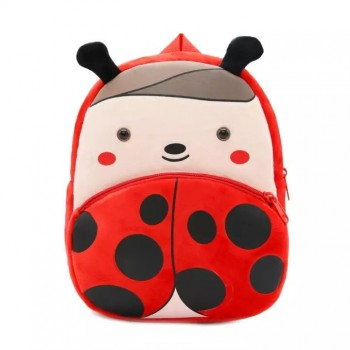 Детский рюкзак BG8019 плюшевый (Божья коровка)