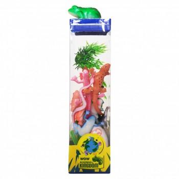 Набор пластиковых Животных  004-1-12 квадратный бокс (Лягушка)