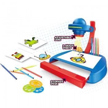 Детский проектор для рисования YM888 с фломастерами