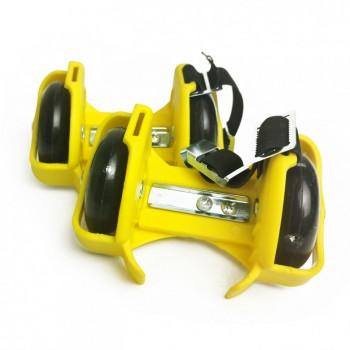 Ролики на пятку RS-0029 светящиеся колеса (Yellow)