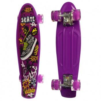 Детский скейт MS 0749-5 с рисунком (Фиолетовый)