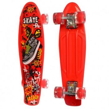 Детский скейт MS 0749-5 с рисунком (Красный)