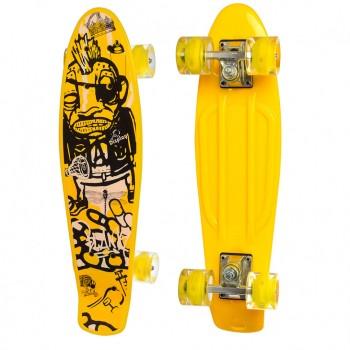 Детский скейт MS 0749-5 с рисунком (Желтый)