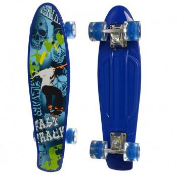 Детский скейт MS 0749-5 с рисунком (Синий)