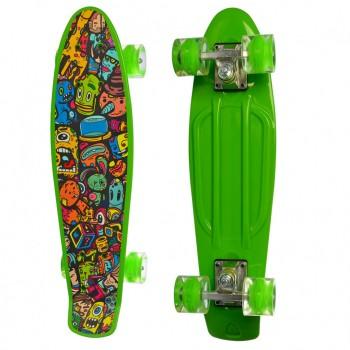 Детский скейт MS 0749-5 с рисунком (Зеленый)