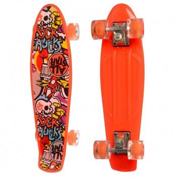 Детский скейт MS 0749-5 с рисунком (Оранжевый)