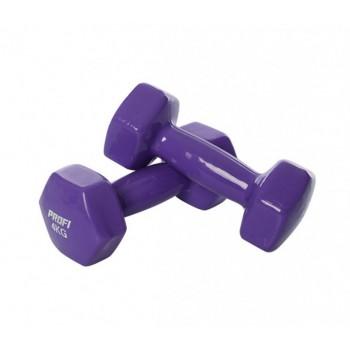 Гантель 4 кг MS 3279 с виниловым покрытием (Фиолетовый)