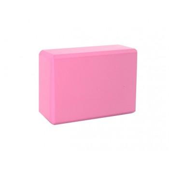 Блок для йоги MS 0858-3 материал EVA (Розовый)