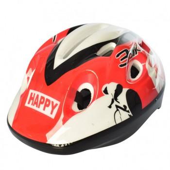 Детский шлем MS 1955 для катания на велосипеде (Красно-белый)