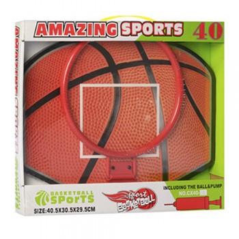 Баскетбольное кольцо MR 0090 кольцо 25 см (Красный)