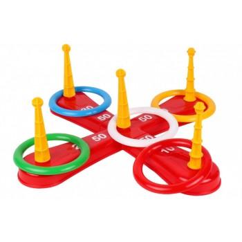 Детская игра Кольцеброс 3404TXK, 5 колец