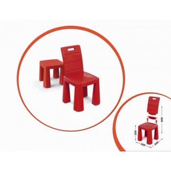 Детский стул-табурет 04690/1/2/3/4/5 высота табуретки 30 см (Красный)