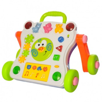 Детская каталка-ходунки 668-50-58  С музыкой и световыми эффектами  (Белый)