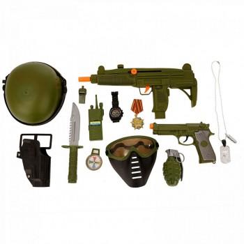 Детский игровой военный набор 34320 с маской