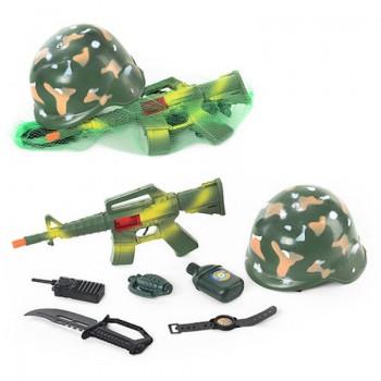 Детский игровой набор Военного 8011 каска+ 7 предметов
