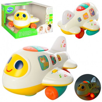 Детский музыкальный самолет 6103 с регулировкой громкости