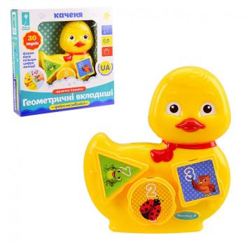 Детская музыкальная игрушка Уточка PL-719-80  на укр. языке