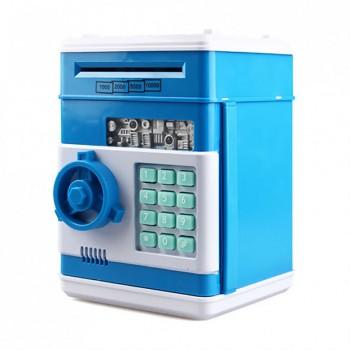 Детская копилка-сейф с кодом MK 4524 с купюроприемником (Синий)