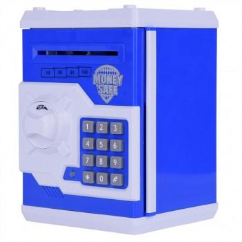 Детская копилка/сейф MK 3916 с купюроприемником (Голубой)