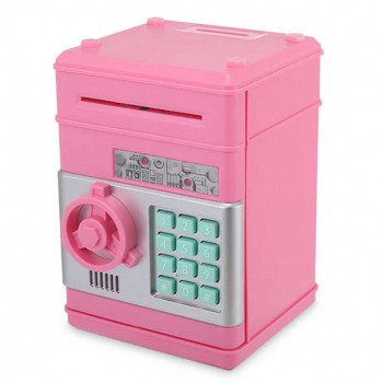 Детская копилка-сейф с кодом MK 4524 с купюроприемником (Розовый)