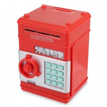 Детская копилка-сейф с кодом MK 4524 с купюроприемником (Красный)