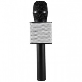 Микрофон для караоке Q9 с колонкой (Чёрный)