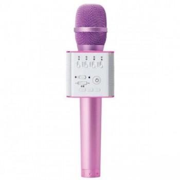 Микрофон для караоке Q9 с колонкой (Розовый)