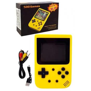 Игровая консоль-приставка портативная JP-03, 500 игр (Желтый)